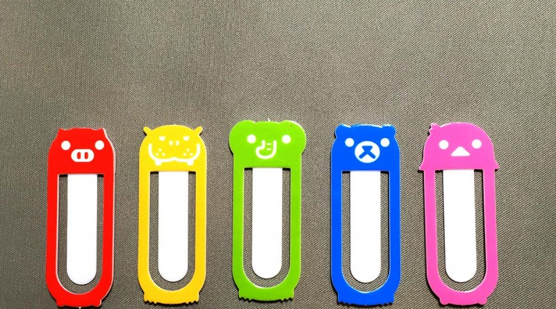 Cute Bookmark Clips - Five clips
