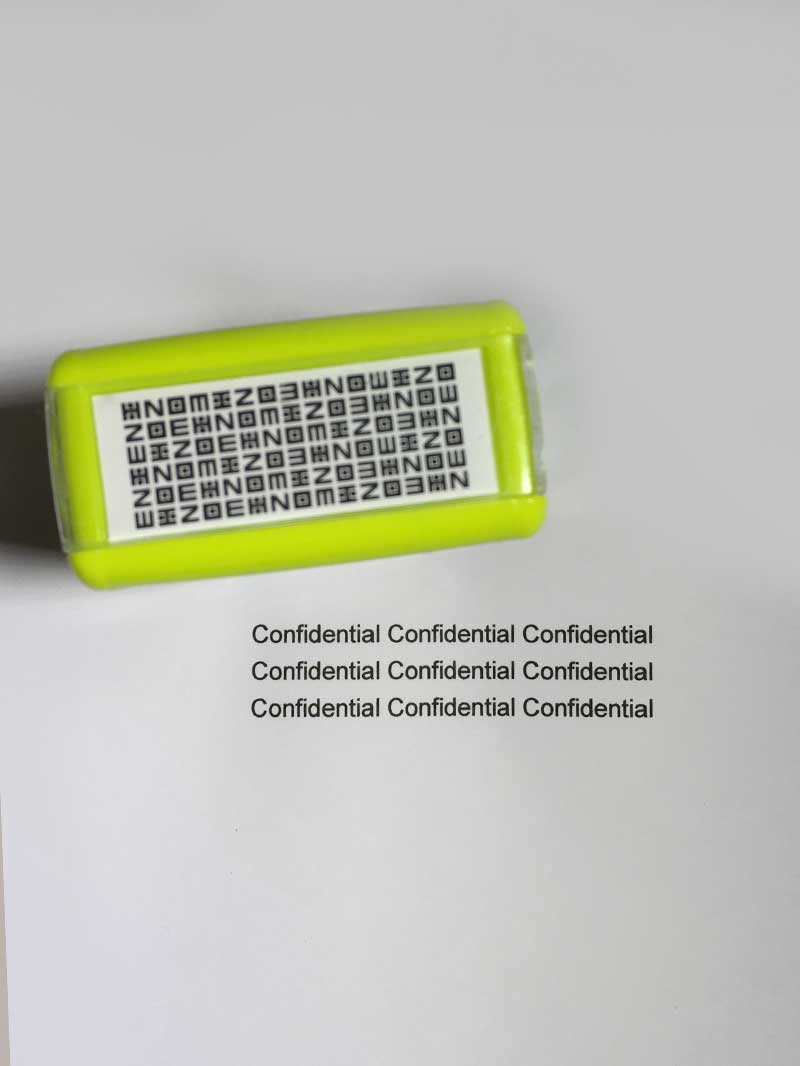 Daiso Japan Blindfold Stamp - Confidential information to be stamped