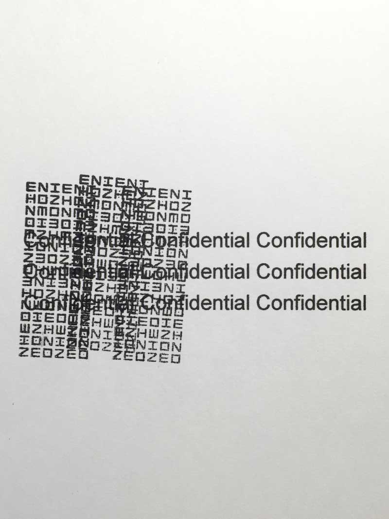Daiso Japan Blindfold Stamp - Confidential information halfway stamped
