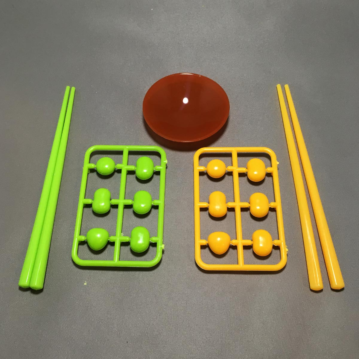 Chopstick Bean Grabbing Game - Game Parts