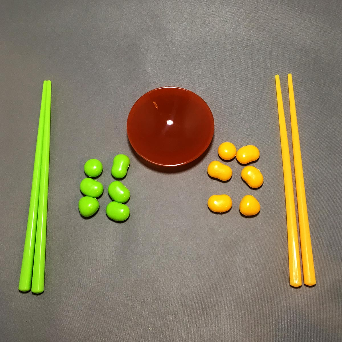 Chopstick Bean Grabbing Game - Game Parts Detached