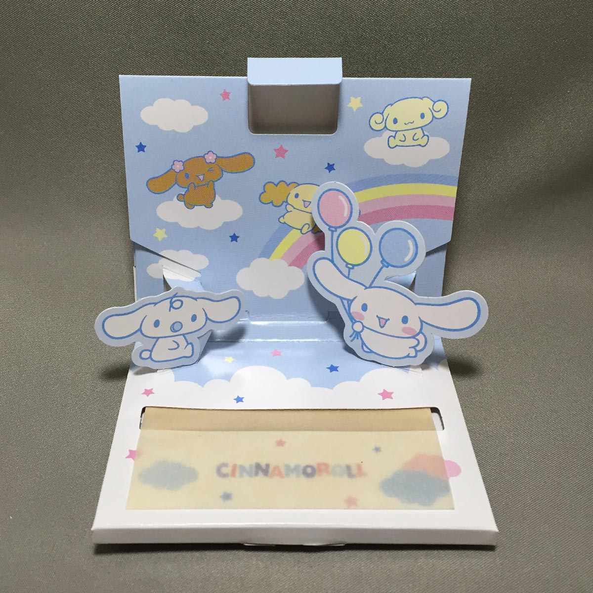 Cinnamoroll Oil Blotting Paper - opened
