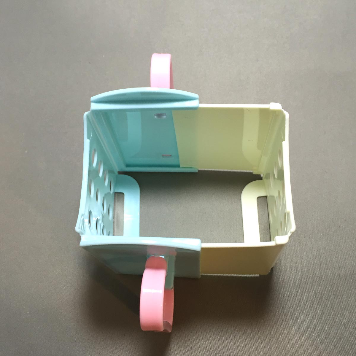 Folding Drink Box Holder - Opened and expanded top view