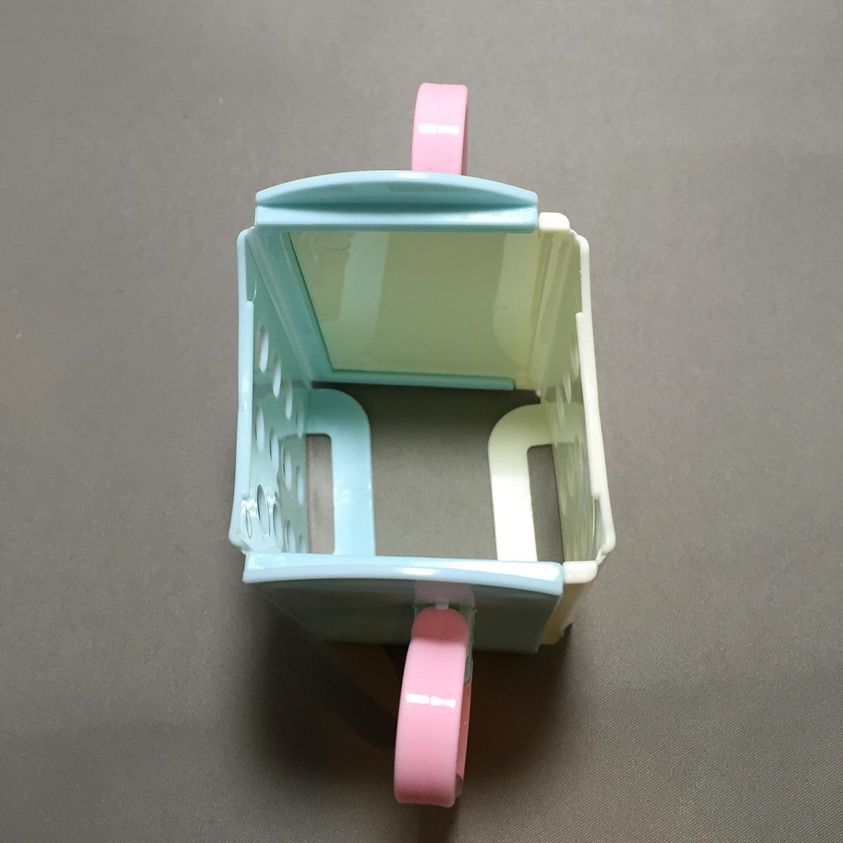 Folding Drink Box Holder - opened Top View