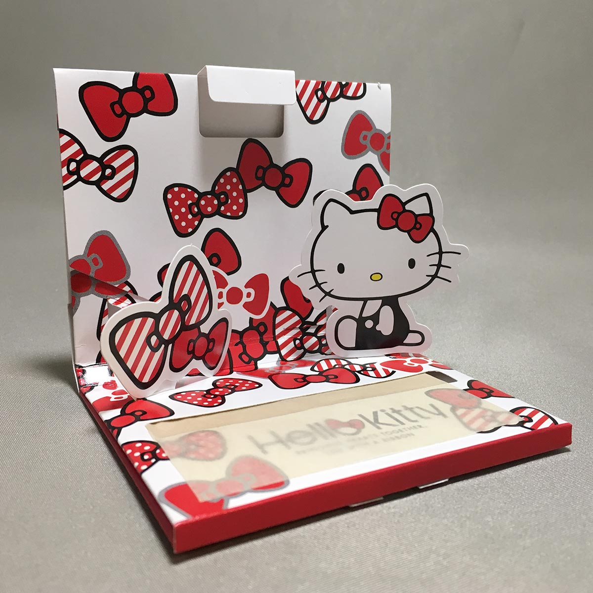Hello Kitty Oil Blotting Paper - Opened Side view