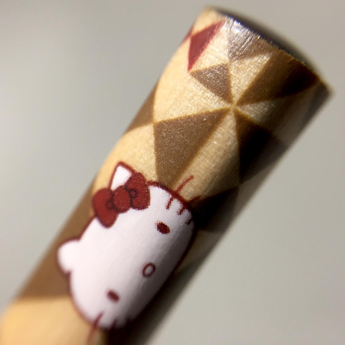Hello Kitty Wooden Chopsticks - Top Macro view