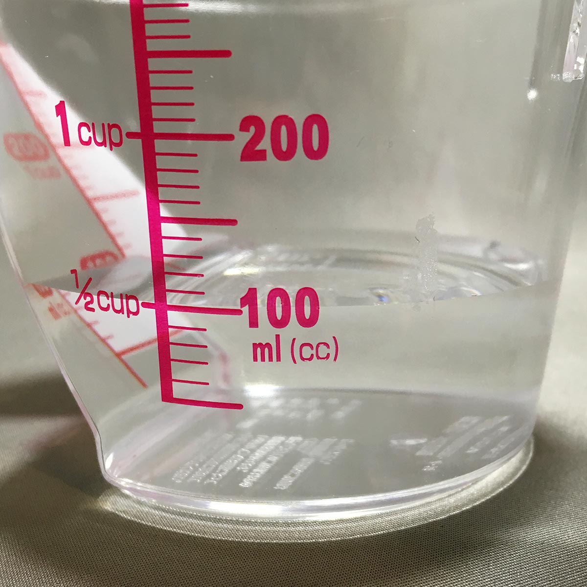 Measuring Cup - 100ml water