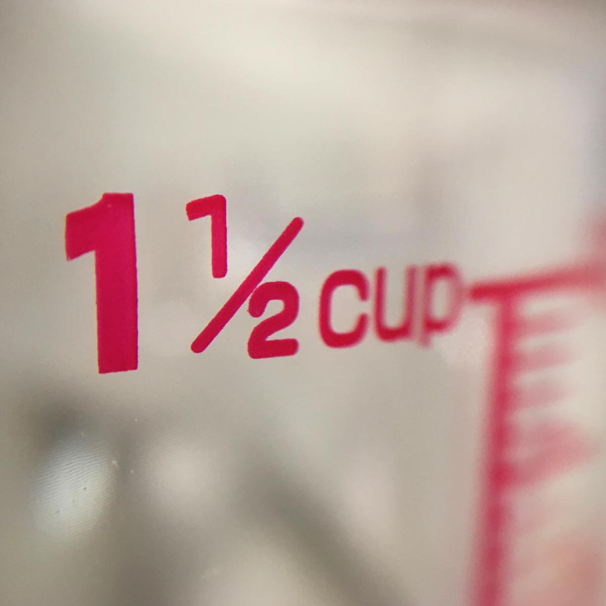 Measuring Cup - Side macro view