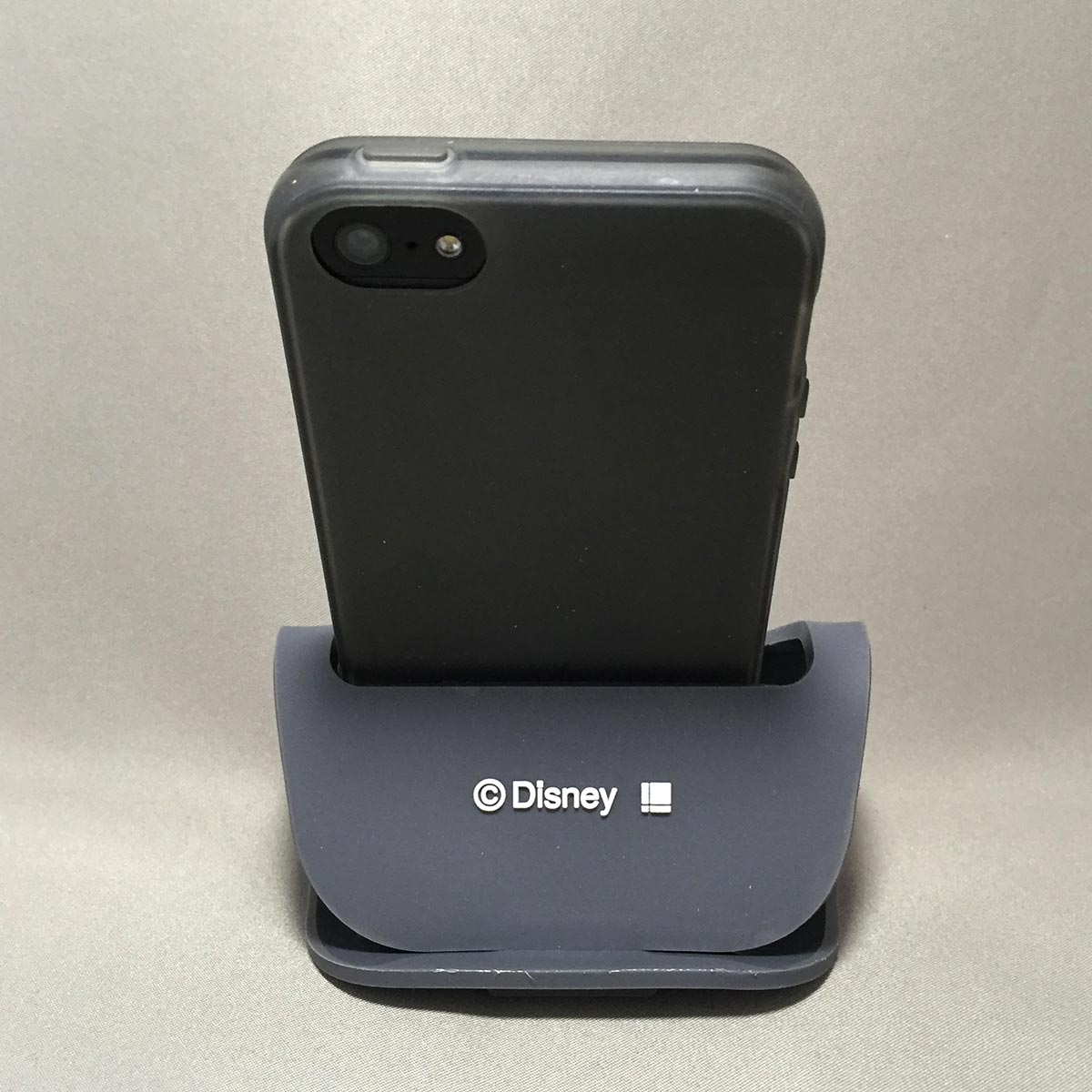 Mickey Mobile Rubber Stand - back view with iPhone