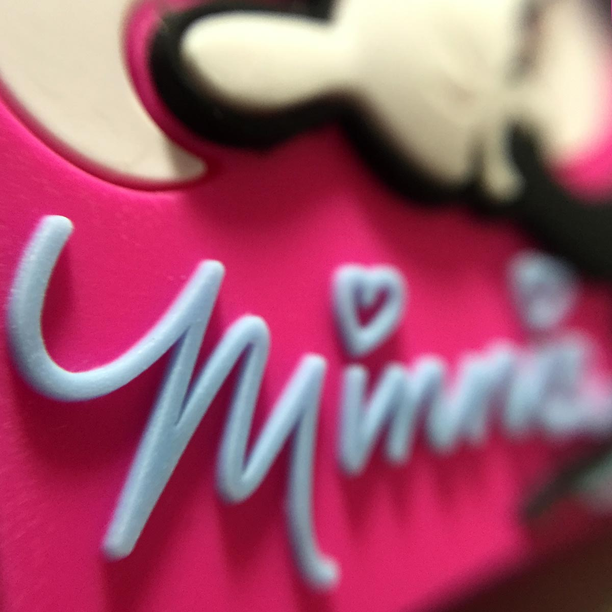 Minnie Mobile Rubber Stand - Minnie lettering