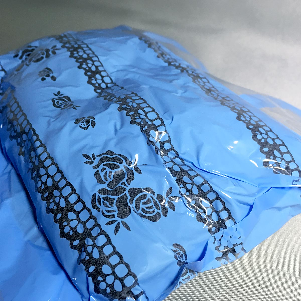 Portable Compression Bag - Bag with Tshirt fully Compressed close view