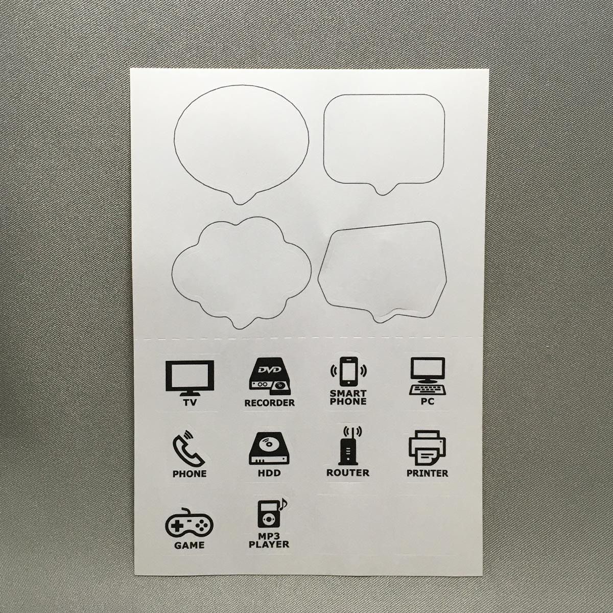 Speech Bubble Cord Tags - Label Stickers