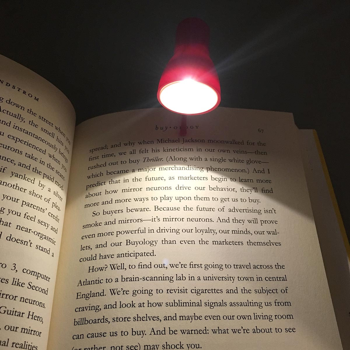 Spot And Book Light- Clipped to book