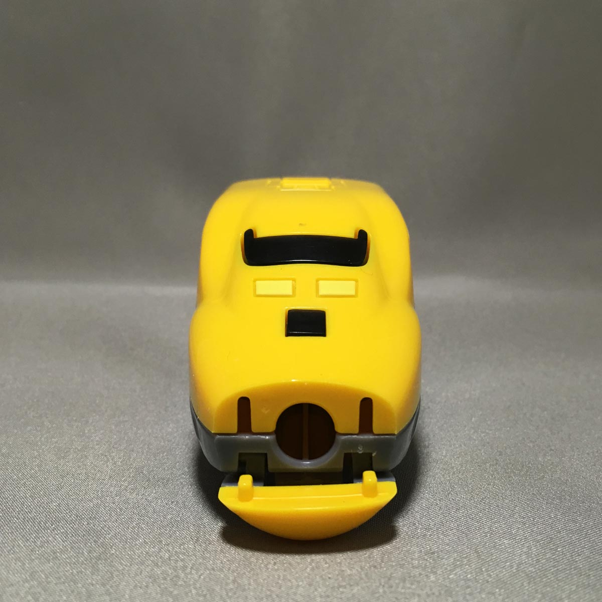 Doctor Yellow Pencil Sharpener - front view opened