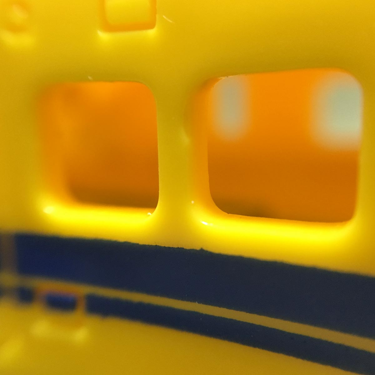 Doctor Yellow Pencil Sharpener - Windows close up