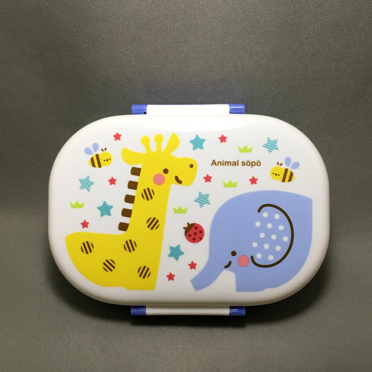 Kids Animal Bento Box - top lid illustration