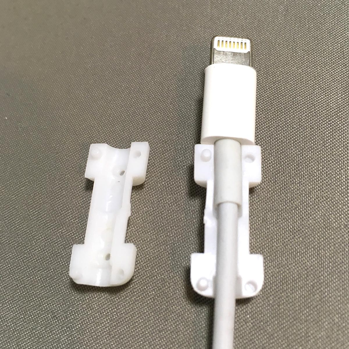 Lightning Cable Protector - Attached to cable step 1