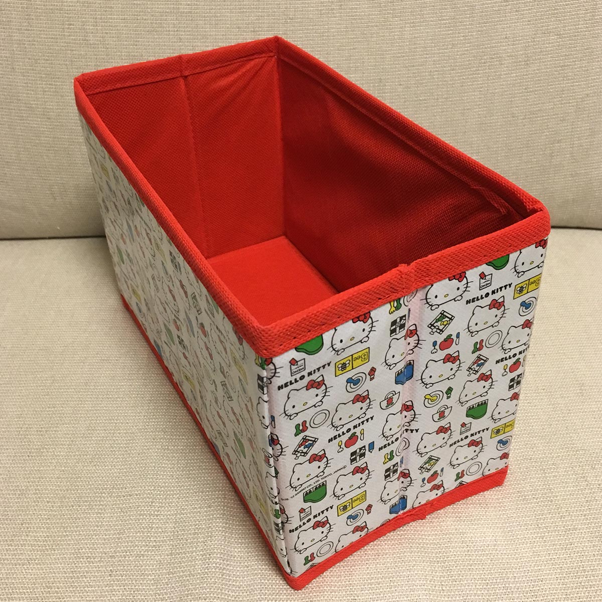 Hello Kitty Foldable Box - top view opened